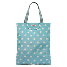 Brand New CATH KIDSTON Soft Teal Button Spot Foldaway Tote Bag