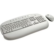 Logitech Cordless Internet Pro Deskop Kb and Mouse White - French Layout