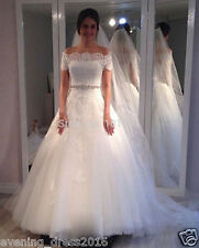 New white/ivory wedding dress bridal gown custom size 6 8 10 12 14 16 18 20 22