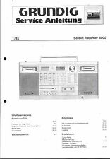 Grundig Service Manual for Satellit Recorder 4000