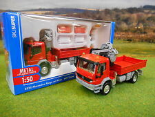 SIKU MERCEDES ATEGO LORRY & HIAB CRANE FIGURES & BARRIERS 1/50 3534 BOXED & NEW*