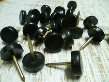 Furniture Nail Glides - Nylon Floor Protectors - 19mm - Black - 24 Count