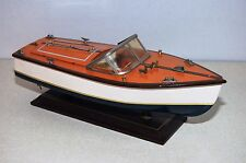 "Wood Chris Craft Style Replica Classic Model Boat Ship Wood 14"" Long Nautical"