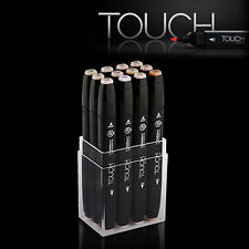 SHINHAN ART TOUCH TWIN 12 Markers Set Twin tips - 12 COLORS / SKIN TONES (12 S)
