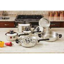 NEW 17-piece Cookware Set Professional Series T304 Heavy-Gauge Stainless Steel