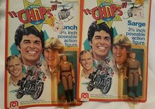"1977 Mego Co. ""CHIPS"" 3 3/4 in poseable action figures"