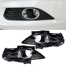 Fog Light Lamp Grill Grille Cover Trim Fit For Ford Fusion Mondeo 2013 2014 2015