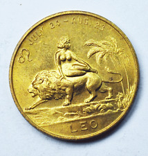 Leo 26mm Copper Good Luck Token Adult Theme You Are Trustworthy