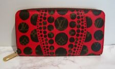 LOUIS VUITTON YAYOI KUSAMA RED PUMPKIN DOT ZIPPY WALLET ~~NEW WITHOUT TAGS~~