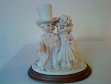 Giuseppe Armani Florence Young Wedding Couple Capodimonte Bride & Groom 1982