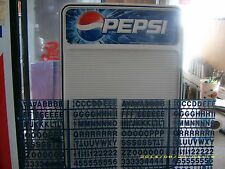 L@@K New Pepsi-Cola countertop or wall mount menu board w/letter & numbers sets!