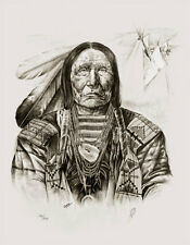 Native American Art Artwork Print Indian Chief Western Southwest Spirit Bear WT