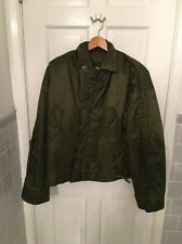 Vtg US NAVY A-1 Cold Weather Jacket Impermeable Deck Coat SZ Large