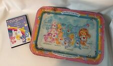 Vintage 1985 Care Bear Cousins TV Tray Metal Breakfast in Bed/Lap TRAY With DVD