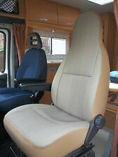 FIAT DUCATO MOTORHOME SEAT COVERS - HARRINGTON STRIPE MH123 - NEW DESIGN
