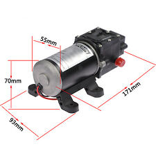 New DC 12V 100W 8L/min Micro Diaphragm High Pressure Water Pump Automatic Switch