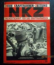 Neue Kraftfahrer Zeitung NKZ 29/1940 2,6-Liter-Mercedes-Dieselmotor,Einstelldate