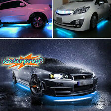 4x Ice Blue 8k LED Strip Under Car Underglow Underbody Neon Light Kit For Mini
