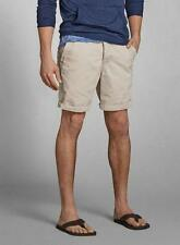 NWT Abercrombie and Fitch AF Men's High Tide Preppy Chino Khaki Shorts 28