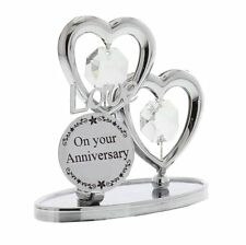 Crystocraft On Your Anniversary Heart Strass Swarovski Element Crystal Ornament