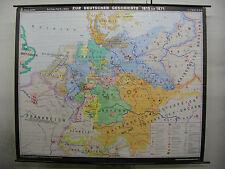 Schulwandkarte Wandkarte Deutsches Reich Bund Kaiser Preussen Österreich 222x181