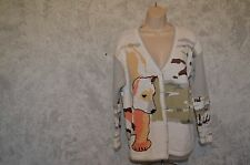 Storybook knits Polar Bear camouflage Christmas Holiday Cardigan SZ L  #121