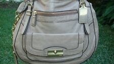 COACH KRISTIN PINNACLE GOLD METALIC LEATHER BAG SATCHEL LAILA #19343 ONLY ONE