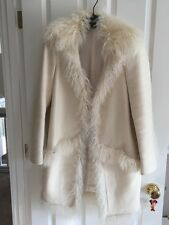 $3995 Gucci Ivory white lamb Fur RUNWAY Coat Size 42 US6-8 Sale
