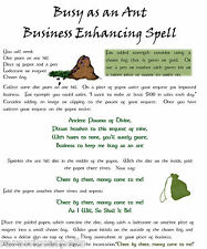 Better Biz Money Spell Generate $$ Wicca Book of Shadows Pagan Occult Ritual