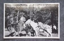 VINTAGE RPPC REAL PHOTO POSTCARD DEER HUNTING SPRINGERVILLE ARIZONA COWBOY