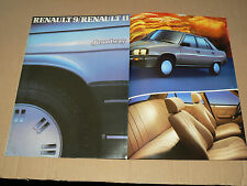 Catalogue  RENAULT 9 /  11   R Broadway   1986  brochure prospekt car prospectus