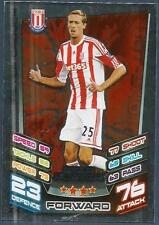 TOPPS MATCH ATTAX 2012-13- #374-STOKE CITY-PETER CROUCH-STAR PLAYER-SILVER FOIL