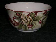 222 Fifth YULETIDE CELEBRATION Large Soup Cereal Rice  Bowl NEW