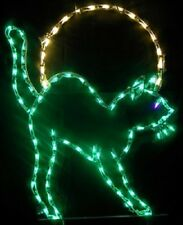 Pro Halloween Cat in Moon Outdoor Holiday LED Lighted Decoration Steel Wireframe