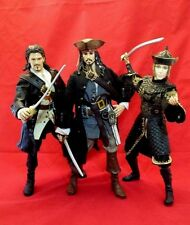 "Pirates of The Caribbean 12"" Will Turner, Jack Sparrow & Elizabeth Swann Figures"