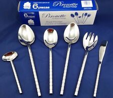 Flatware Serving Set Stainless Steel 6 pc. Royal Prestige Pirouette 18/10 NEW!