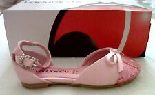 LADYBIRD PINK SEQUINED SATIN PARTY / FORMAL GIRLS BALLERINA SHOES