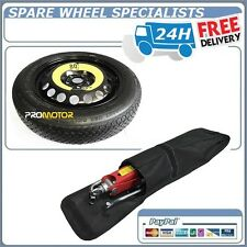 "NISSAN JUKE 16"" SPACE SAVER SPARE WHEEL + LIFTING JACK ,WHEEL BRACE TOOLS COVER"