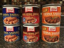 Lot Of 6 Cans Libby's Vienna Sausage Original  & Chicken & BBQ 4.6 Oz Each Can