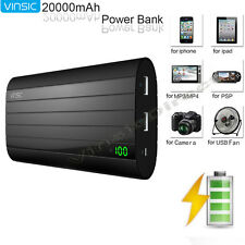 External 20000mAh Power Bank Pack USB Portable Battery Charger for Mobile Phone