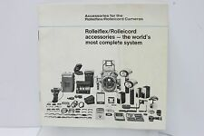 1970 Rolleiflex/Rolleicord Camera Accessories - The World's Most Complete System