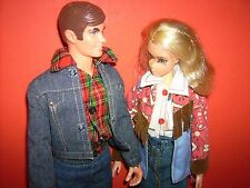 Live Action Barbie Busy Ken dolls 1970s Matching Cowboy outfits Vintage Barbie