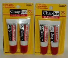4 Chap Ice Medicated Balm Lip Treatment For Chap Lips Cold Sores Fever Blisters