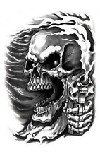 ASSASSIN SKULL & GUN AWESOME GUITAR STICKER/Vinyl DECAL Art by Hot Leathers