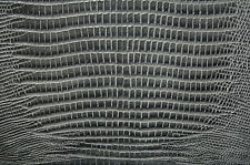 70 sf Gray  Lizard Print Cow Hide Leather Skin   T63k lm