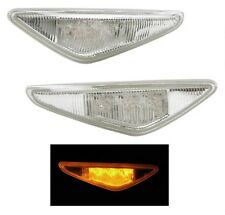 04-06 BMW E46 2D CLEAR SIDE MARKER FENDER LIGHTS PAIR LED OE REPLACEMENT