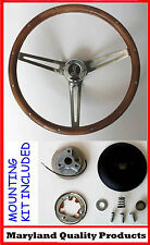 Mustang Shelby GT350 Real Wood Steering Wheel Cobra Center Cap Grant Walnut 15""