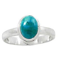 Chrysocolla - Peru 925 Sterling Silver Ring Jewelry s.6 CCPR12