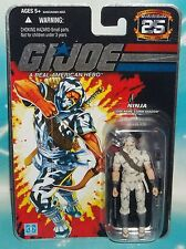 G I GI JOE 25TH ANNIVERSARY COBRA NINJA STORM SHADOW WITH CAMOUFLAGE FIGURE MOC