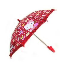 Hello Kitty Cherry Red Umbrella Automatic Metal Shaft